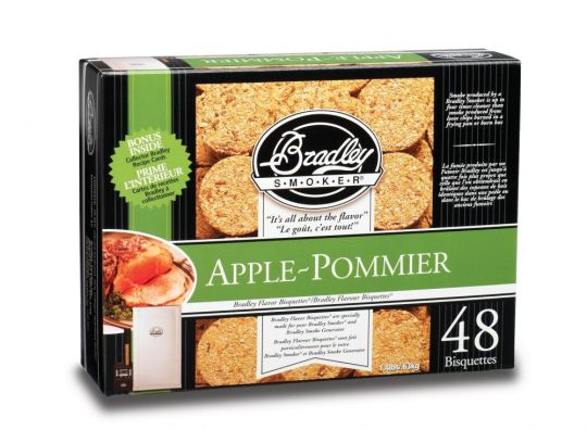 BISQUETTES POMME X48 BRADLEY SMOKER