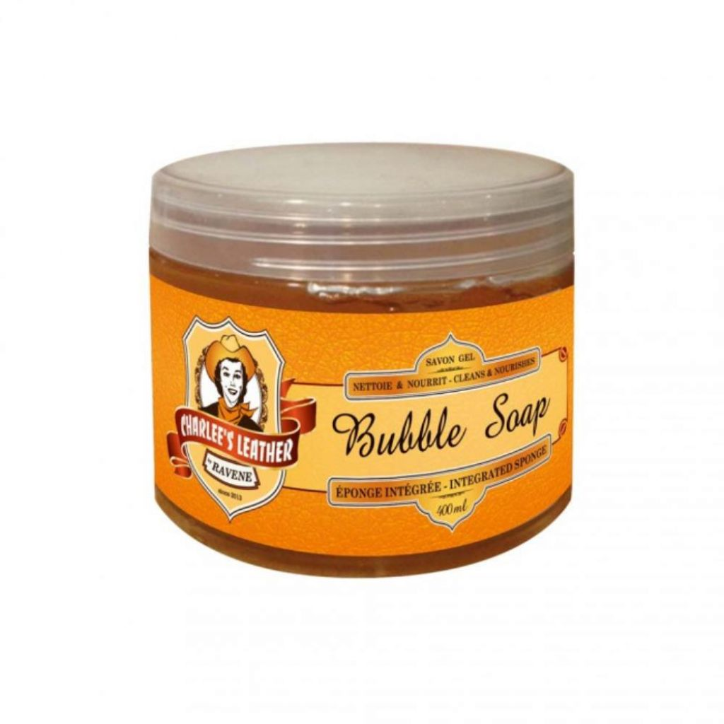 SAVON GEL BUBBLE SOAP 400ML CHARLEE S LEATHER