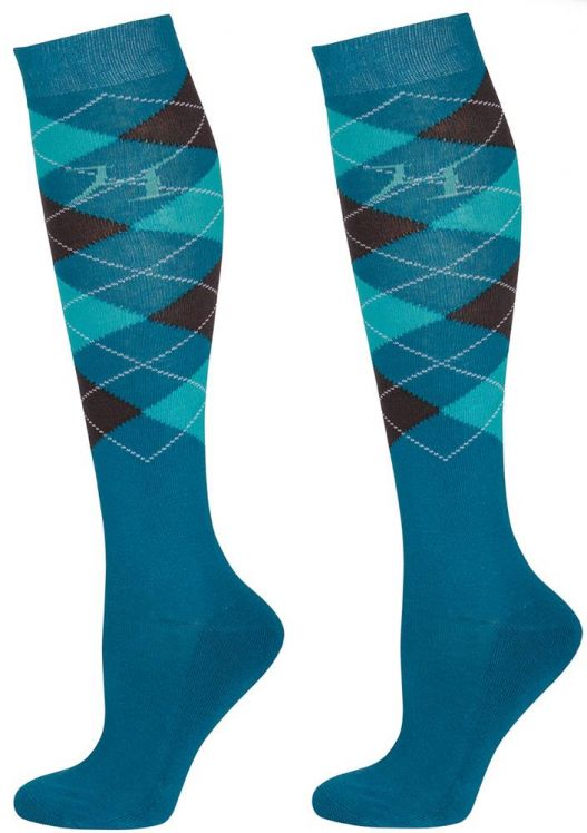 CHAUSSETTES TURQUOISE/VERT/GRIS HARRY S HORSE