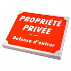 PLAQUE AKILUX PROPRIETE PRIVEE X10