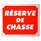 PLAQUE ALU ATTENTION RESERVE CHASSE