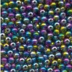 POCH. 50X PERLES 5 MM - ARC-EN-CIEL - PACK 20