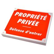 PLAQUE AKILUX PROPRIETE PRIVEE X10