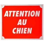 PLAQUE ALU ATTENTION AU CHIEN