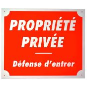 PLAQUE ALU PROPRIETE PRIVEE