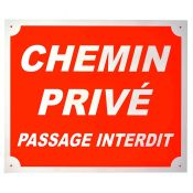 PLAQUE ALU CHEMIN PRIVE