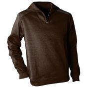 PULL COL ZIP ARIZONA MARRON
