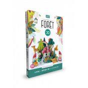 LIVRE+DECOR LES GNOMES DE LA FORET EN 3D