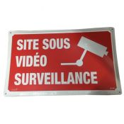 PLAQUE ALU SITE SOUS VIDEO SURV