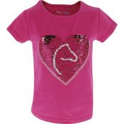 TEE-SHIRT PONY LOVE EQUI-KIDS ROSE