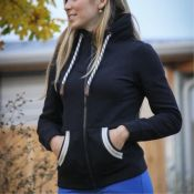 SWEAT PENELOPE ZIP COMETE MARINE