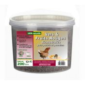 VERS & FRUITS ROUGES DESHYDRATES 200 GRS