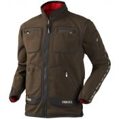 VESTE KAMKO MARRON ROUGE