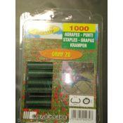 AGRAFES 20 VERT X1000