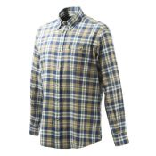 CHEMISE FLANNELLE BLUE BEIGE