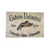 PLAQUE EMAILLEE GABION UNLIMITED
