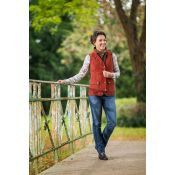 GILET FEMME SS MANCHES SCARLET BRIC