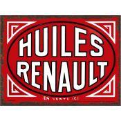 PLAQUE HUILES RENAULT