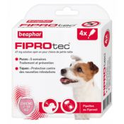 PIPETTES FIPROTEC PETIT CHIEN X4