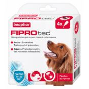 PIPETTES FIPROTEC CHIEN MOYEN X4