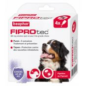 PIPETTES FIPROTEC TRES GD CHIEN X4