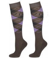 CHAUSSETTES GRIS/ANTHRACITE/LILA