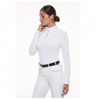 POLO COMPETITION NUTRIA FEMME BLANC