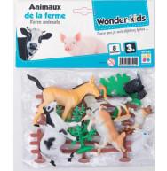 JOUET 8 ANIMAUX FERME + ACC