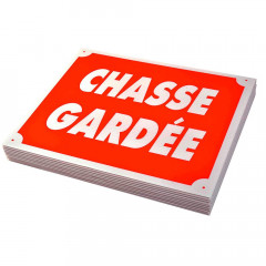 PLAQUE AKILUX CHASSE GARDEE X10