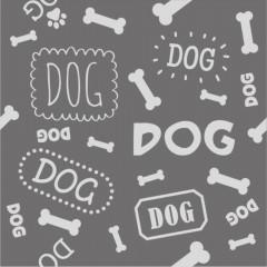 TAPIS DOG GRIS/BLANC 75CM