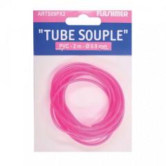 TUBE PVC  0.9 MM ROSE FLUO 2M
