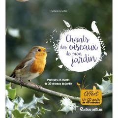 LIVRE CD CHANTS DES OISEAUX JARDIN