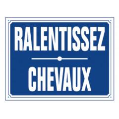 PANNEAU RALENTISSEZ CHEVAUX