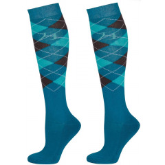 CHAUSSETTES TURQUOISE/VERT/GRIS
