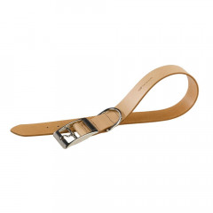 COLLIER NATURAL C CUIR BEIGE