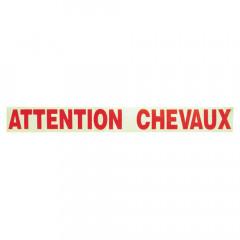 AUTOCOLLANT ATTENTION CHEVAUX