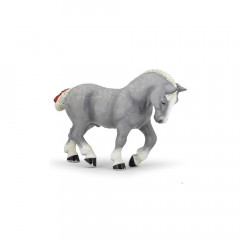 FIGURINE CHEVAL PERCHERON GRIS