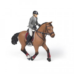 FIGURINE CHEVAL CONCOURS+CAVALIER