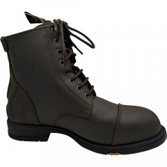BOOTS COQUEES ZIP + LACETS HORTA
