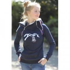 SWEAT DOUBLE ZIP FEMME MARINE
