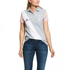 POLO HEATHER GRIS/ROSE