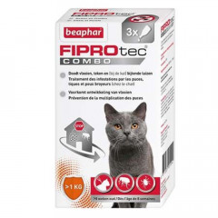 PIPETTES FIPROTEC COMBO CHAT/FURET