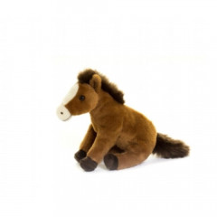 PELUCHE CHEVAL BRUN ASSIS 20CM