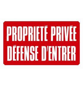 PANNEAU PROP.PRIV.DEF.D'ENTRER