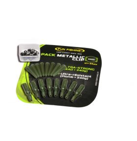 PACK METALIC CLIP WEED X8