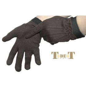 GANTS PICOT COTON MARRON ADULTE