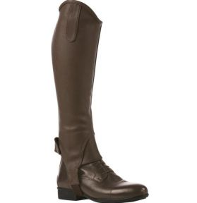 MINI-CHAPS STRETCH GRAINE MARRON
