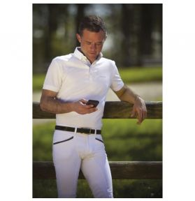 POLO COMPETITION HOMME MESH BLANC