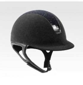 CASQUE CRYSTAL FABRIC NOIR
