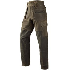 PANTALON CUIR ANGUS GREEN BROWN